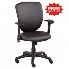 Black Faux Leather Task Chair - FREE Shipping!