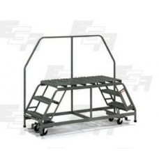 "Dual Access Mobile Ladder Platform  75""L x 27""W x 60""H Warehouse Cart"