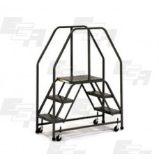 "Double Entry Mobile Ladder Platform  46""L x 22""W Warehouse Cart"