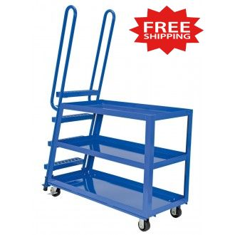 """Steel Ladder Stock Picker Truck  50-3/4""""L x 21-1/2""""W - FREE Shipping!"""