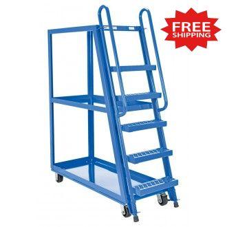 """Steel Tall Ladder Stock Picker Truck  50-3/4""""L x 21-1/2""""W - FREE Shipping!"""