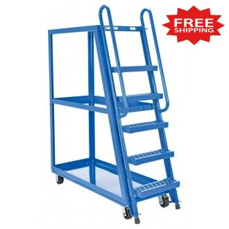 "Steel Tall Ladder Stock Picker Truck  50-3/4""L x 27-1/2""W - FREE Shipping!"