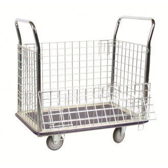 """35""""D X 23""""W Wire Caged Platform Box Truck - FREE Shipping!"""