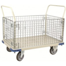 "48""D X 30""W Wire Caged Steel Platform Box Truck"