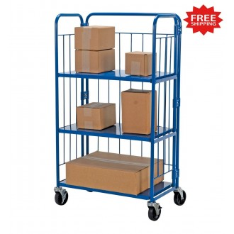 """Foldable Nestable Rolling Container Cart, 33-9/16""""W x 18-1/16""""D - FREE Shipping!"""