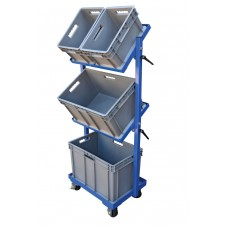 "Multi Tier Stock Cart with Adjustable Angle Height , 30-11/16""W x 19-1/16""D (Bins Included) - FREE Shipping!"