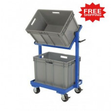 "Multi Tier Stock Cart with Adjustable Angle Height , 30--11/16""W x 19-1/16""D (Bins Included) - FREE Shipping!"