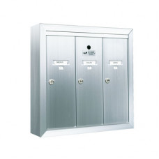 Standard 3 Door Vertical Mailbox Unit - Front Loading and Surface Mounted - 12503SMSHA