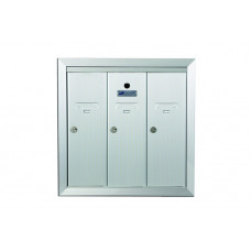 Standard 3 Door Vertical Mailbox Unit - Front Loading and Fully Recessed - 12503HA