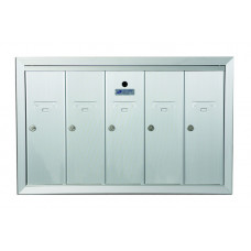 Standard 5 Door Vertical Mailbox Unit - Front Loading and Fully Recessed - 12505HA