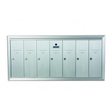 Standard 7 Door Vertical Mailbox Unit - Front Loading and Fully Recessed - 12507HA
