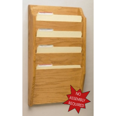 Magazine Rack Extra Wide Wall Rack - 4 Pockets