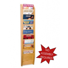 Office Supplies Magazine Rack Single Wall Rack - 10 Pockets