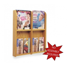 Office Products Magazine Racks - Wood and Acrylic Magazine/Pamphlet Combination Rack