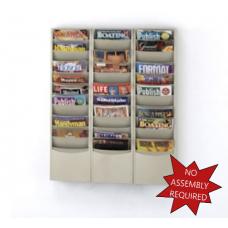 Office Supplies Magazine Racks Wall Rack 33 Pockets - Black