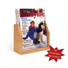 Office Products Magazine Racks Wood and Acrylic Magazine Rack - 1 Pocket
