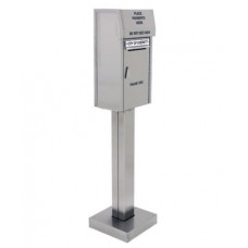 Mailing Products Stainless Steel, Walk-up, On-Concrete Outdoor Payment Mail Box