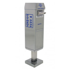 Drive up Stainless Steel Payment Box with Surface Mount Pedestal