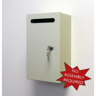 Mail Room and Office Mailing Supplies Steel Wall Mount Mail Drop Box - Small - FREE Shipping!