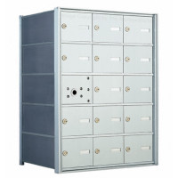 15 A-size Door Horizontal Mailbox Unit - Front Loading- 140053A