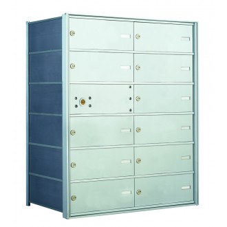 12 DA-size Door Horizontal Mailbox Unit - Front Loading - 140064DA