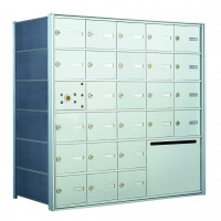 25 OUA-size Door Horizontal Mailbox Unit and 1 Outgoing Mail Collection - Front Loading - 140065OUA
