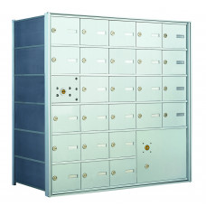 25 PLA-size Door and 1 Parcel Locker Horizontal Mailbox Unit - Front Loading - 140065PLA