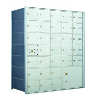 30 PLA-size Door and 1 Parcel Locker Horizontal Mailbox Unit - Front Loading - 140075PLA