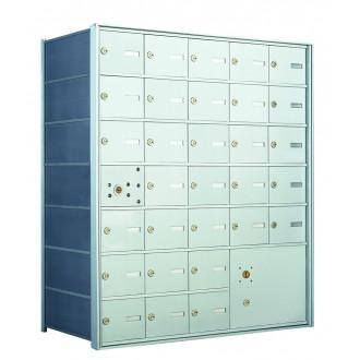 30 PLA-size Door and 1 Parcel Locker Horizontal Mailbox Unit - Front Loading - 140075PLA
