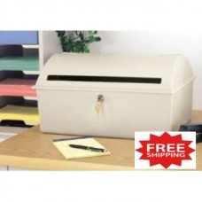 """Close-Out Special"" Large Desktop Drop Box - Heavy Molded Plastic Construction (Only One Left!) - FREE SHIPPING!"