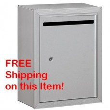 "Aluminum Surface Mounted Private Use Letter Box 15""W x 19""H x 7.5""D - Private Use - FREE SHIPPING!"