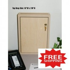 """Close Out"" Light Maple Wall Mount Drop Box (Only One Left!) - FREE SHIPPING!"
