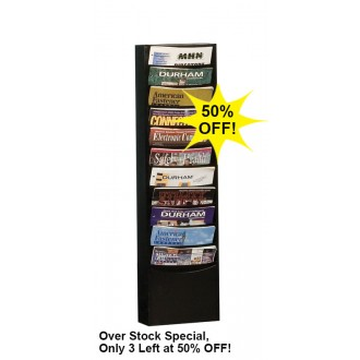 Over Stock Special!! Wall Rack 11 Pockets - Black