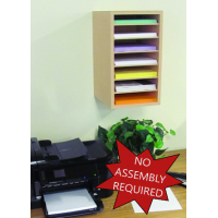 Mail Room and Office Furniture 7 Pocket Wood Sorter/Organizer