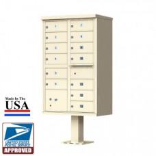 13 Tenant Door Standard Style CBU Mailbox (Pedestal Included) - Type 4 - 1570-13AF