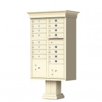 16 Tenant Door Classic Decorative CBU Mailbox (Pedestal Included) - Type 3 - 1570-16AF-DC