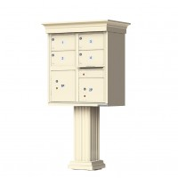 4 Large Tenant Door Decorative Classic CBU Mailbox (Pedestal Included) - Type 5 - 1570-4T5AF-DC