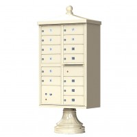 13 Tenant Door Traditional Decorative Style Mailbox (Pedestal Included) - Type 4 - 1570-13AF-DT