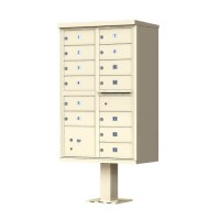 13 Tenant Door Standard Style CBU Mailbox (Pedestal Included) - Type 4 - 1570-13AF
