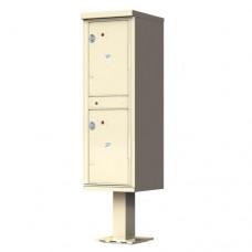 2 Door Pedestal Style - High Security Outdoor Parcel Locker (Pedestal Included) - 1590-T1AF