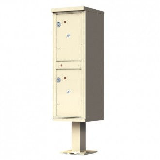 2 Door Pedestal Style - High Security Outdoor Parcel Locker (Pedestal Included) - 1590-T1AF