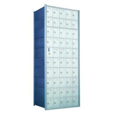 Standard 50 Door Horizontal Mailbox Unit - Front Loading - (49 Useable; 10 High) 1600105A