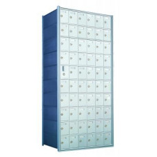 Standard 60 Door Horizontal Mailbox Unit - Front Loading - (59 Useable; 10 High) 1600106A