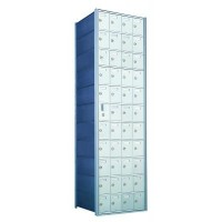 Custom 44 Door Horizontal Mailbox Unit - Front Loading - (43 Useable; 11 High) 1600114-SP