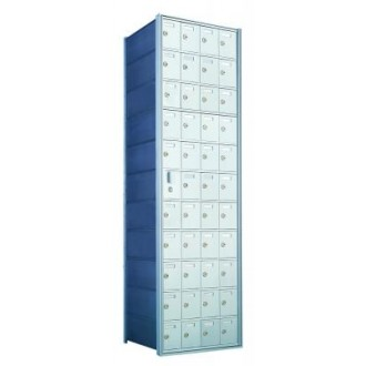 Standard 44 Door Horizontal Mailbox Unit - Front Loading - (43 Useable; 11 High) 1600114A