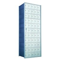 Custom 55 Door Horizontal Mailbox Unit - Front Loading - (54 Useable; 11 High) 1600115-SP