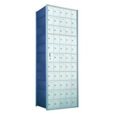 Standard 55 Door Horizontal Mailbox Unit - Front Loading - (54 Useable; 11 High) 1600115A