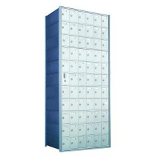 Standard 66 Door Horizontal Mailbox Unit - Front Loading - (65 Useable; 11 High) 1600116A