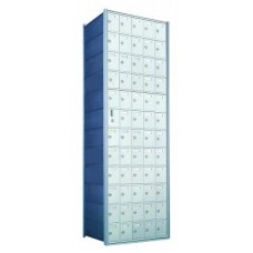 Standard 60 Door Horizontal Mailbox Unit - Front Loading - (59 Useable; 12 High) 1600125A