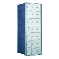 Custom 21 Door Horizontal Mailbox Unit - Front Loading - (20 Useable; 7 High) - 160073-SP